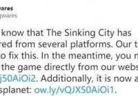 《沉没之城》忽然从Steam停售 房地产商已经勤奋处理中