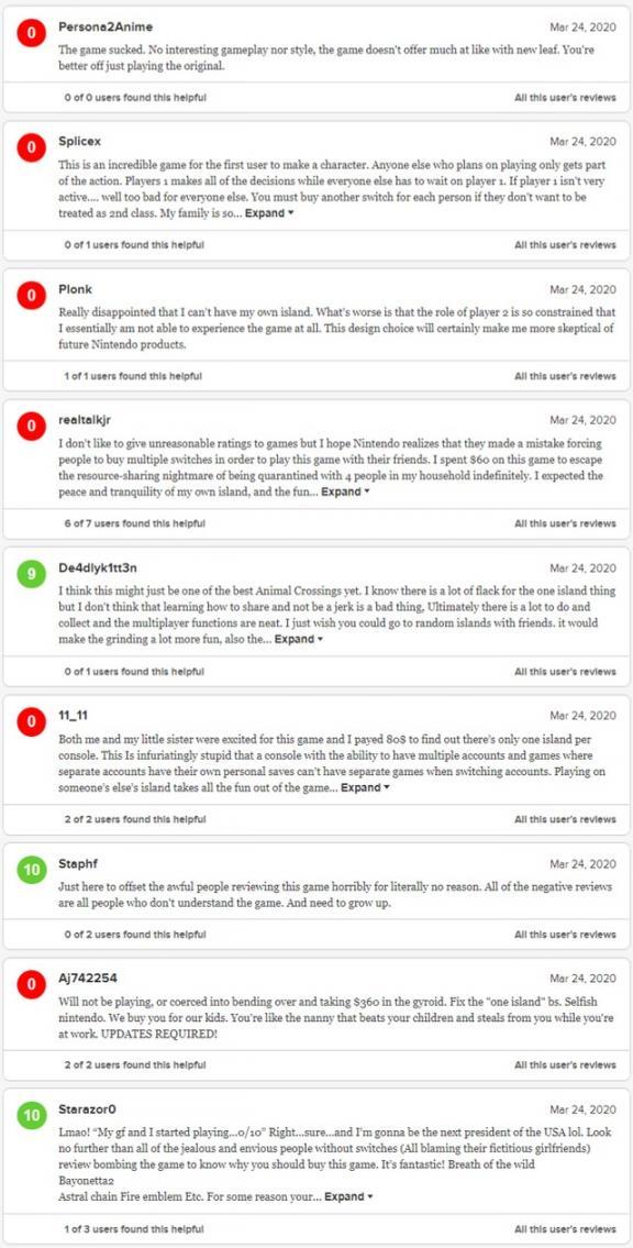 《动森》M站玩家口碑两极分化 大量0分、10分刷屏  中日钓鱼岛屿最新事件 姓名测试打分网 深水炸弹游戏 汪汪队立大功3评价 fc中文游戏合集 yy刷屏图案 紫薇花重开 天上人间浙江重开张 护肤品口碑排行榜 上海综合素质评价网 第3张