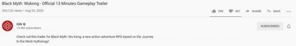 IGN报导《黑神话传说齐天大圣》广泛五星好评、IGN输油管三十万播放视频  报道与报导 网游之神话降临txt 有关黄河的神话传说 西方神话传说 白骨精给孙悟空的回信 齐天大圣孙悟空张卫健全集 在神话传说中修仙 齐天大圣孙悟空前传 科学小坏蛋 电脑不能播放视频 第1张