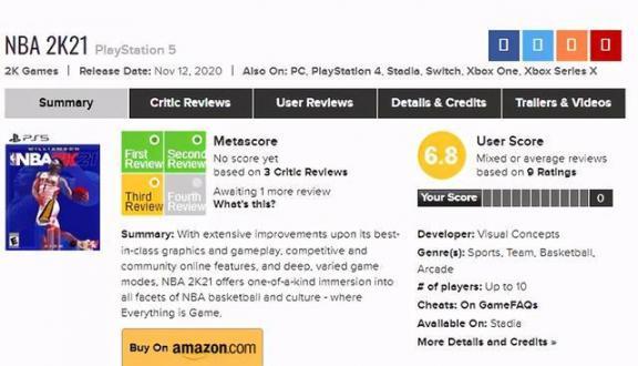 NBA 2K21下一代版媒体评分公开IGN,7分。  英语六级评分标准 进沪就业评分办法 教学媒体的选择 宫锁连城21 何洁怒斥自媒体 多媒体技术基础及应用 生活大爆炸第四季21 酷我k歌怎么评分 我是特种兵21集 第1张