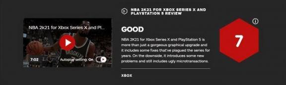NBA 2K21下一代版媒体评分公开IGN,7分。  英语六级评分标准 进沪就业评分办法 教学媒体的选择 宫锁连城21 何洁怒斥自媒体 多媒体技术基础及应用 生活大爆炸第四季21 酷我k歌怎么评分 我是特种兵21集 第3张